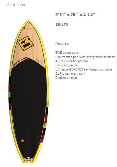 גלשן סאפ לגלישת גלים - Focus 8'10 Torpedo